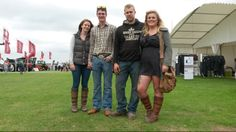 This well-turned-out bunch were spotted at the Lincolnshire Show. Lucy and Lewis from Nottinghamshire, and Olly and Sarah from Gainsborough, were showing how good the country style can look. We love those Dubarry boots, girls! Dubarry Boots, Barbour, Good Old, Well Dressed, Country Style, Dapper, Tweed, Military Jacket, Lady
