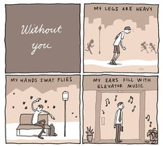 "INCIDENTAL COMICS: ""With You, Without You, Thinking About You"" I'm always thinking about you!"