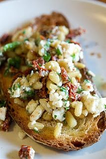 CHUNKY PESTO WITH FETA, SUN DRIED TOMATOES, PARSLEY, AND PINE NUTS  *Serve on Bruschetta OR over Chicken*