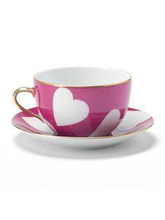 Nina Campbell Pink Teacup & Saucer