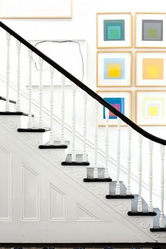 This Melbourne Victorian terrace home belongs to Architect duo Stephen O'Connor and Annick Houle. The couple reimagined the house into a true family home. ** Check this useful article by going to the link at the image. Victorian Stairs, Victorian Terrace House, Victorian Style Homes, Modern Victorian, Folk Victorian, Victorian Interiors, White Interiors, House Interiors, Bright Apartment