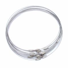 10pcs/lot 46cm silver Stainless Steel Necklace Wire Cord For DIY Craft Jewelry