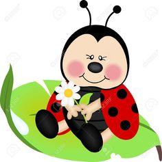 16484416-Ladybug-sitting-on-a-green-leaf-Stock-Vector-ladybug-cartoon-bug.jpg (1292×1300)