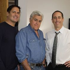 Jay backstage with Jerry Seinfeld and Mark Cuban! (3/13/13)