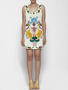 Sequinced Shift Dress: Hand Embroidered And Embellished Shift Dress