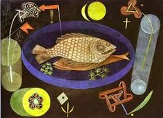 Aroundfish - Paul Klee (1926) #art #painting #food #surrealism #oil #fish