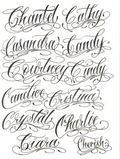 Tattoo Lettering Styles, Chicano Lettering, Graffiti Lettering, Calligraphy Tattoo, Calligraphy Signs, Pencil Calligraphy, Calligraphy Letters Alphabet, Tattoo Fonts Alphabet, Name In Cursive