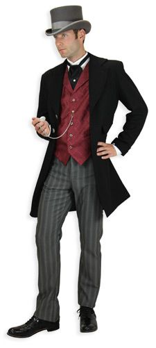 From Gentleman's Emporium. The fellas will also have to look Victorian, but I promised Mark he could wear his boots.