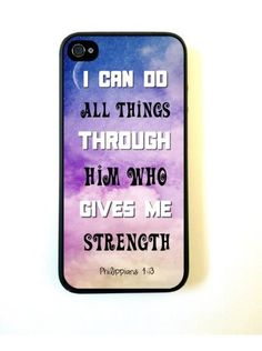 Bereadyship For iPhone 4 Case - ThinShell Protective Case for iPhone 4 4s Case Bible Quote Philippians 4 13:Amazon:Cell Phones & Accessories