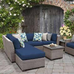 Best Outdoor Wicker Patio Furniture for your Home! We love Wicker Furniture for a patio because it is beautiful, durable, and luxurious. You can quickly upgrade a coastal patio with a wicker furniture set or wicker dining set. Outdoor Sofa Sets, Outdoor Wicker Patio Furniture, Patio Furniture Sets, Outdoor Decor, Cheap Furniture, Wicker Sofa, Furniture Layout, Garden Furniture, Furniture Ideas