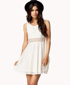 Crochet Panel Lace Dress from Forever 21