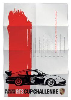 Porsche vintage racing poster