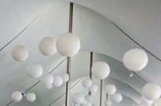 Helpful Tutorial on How-to Hang Paper Lanterns in a Tent