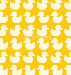 Duck seamless pattern vector 43833 - by chris11 on VectorStock®