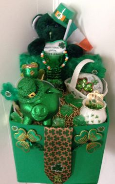 Handmade Green LUCKY IRISH LOVE St.Patrick's Day Gift by cappelloscreations on Etsy, $68.00 @Etsy  Can Be Personalized & Comes Beautifully Wrapped