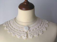Peter Pan Lace Collar Irish Style Off White от callmemimi