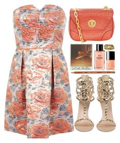 Screaming Color by bellacharlie on Polyvore featuring polyvore, fashion, style, Miss Selfridge, Giuseppe Zanotti, Marc by Marc Jacobs, TOMS, Chanel, orange, contestentry and promstory