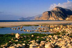 Jebel al Qamar Mountains near beach, Oman