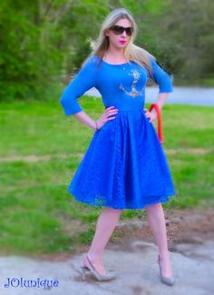 Floral Lace Circle Skirt. Blue Lace Skirt overlay by JOIunique, $89.99 http://etsy.com/shop/JOIunique Go to my store)