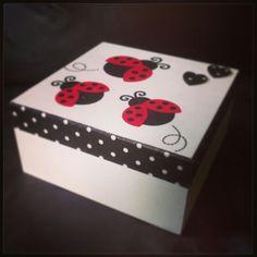 Ladybird box decoupage