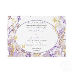 #purple #violet #weddings #invitation #elegant