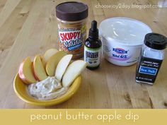 So Simple Snacks: Peanut Butter Apple Dip