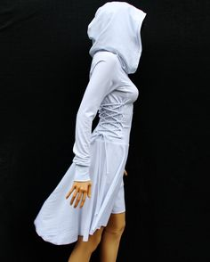 Party dress /Women's Maxi Dresses / High Low Dress / Low High Dress / Hoodies for Women /Hoodies / Lace Up Dress / Casual Dresses Casual Day Dresses, Party Dresses For Women, Tumbrl Girls, Hooded Dress, Cotton Dresses, Maxi Dresses, Long Dresses, Dress Long, White Casual