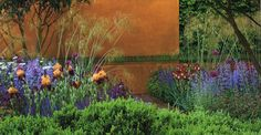 tom stuart-smith love his designs. The use of the corten steel in this Chelsea design is inspired.
