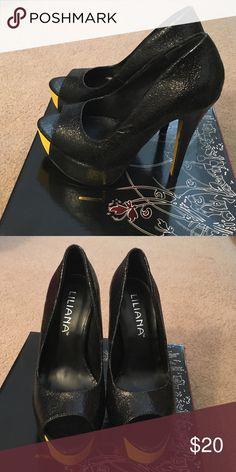 Platform heels Fun peep toe heel. Shoes Heels