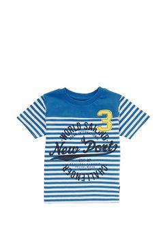 Clothing at Tesco | Minoti Striped T-Shirt > tops > Tops & T-shirts > Younger boys