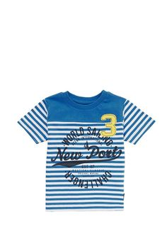 Clothing at Tesco | Minoti Striped T-Shirt > tops > Tops & T-shirts > Younger boys