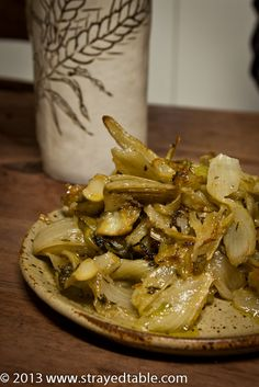 Roast Fennel Recipe - tried it with some Israeli couscous & mustard vinaigrette mentioned in the comments...it was delish! My only recommendation: remove the stalks. Maybe that should've been obvious but I didn't know the first time!