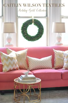 caitlin wilson design: I want a pink couch!