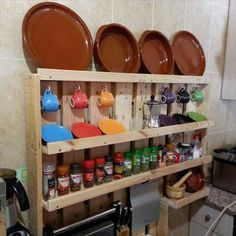 The kitchen shelf plans shown inside the photos can be made from pallets and is a terrific and inexpensive concept. This small and handy craft is fun.
