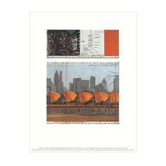 A special-edition poster printed to commemorate Jeanne-Claude & Christo's 2005 'The Gates' installation in New York City's Central Park.