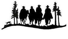 Картинки по запросу silhouette cowboy