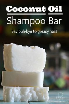 Shampoo bar recipe that gently moisturizes without leaving hair heavy or greasy. Only three ingredients!