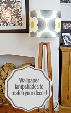 Awesome Lampshade Covered with Wallpaper