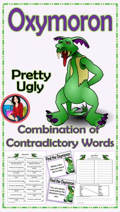 Oxymoron Activity for whole class, small groups, or independent literacy station�