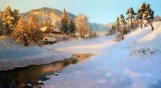 Winter Painting, Mountains, Canvas, Water, Inspiration, Travel, Outdoor, Studio, Shop Signs