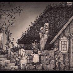 John Kenn Mortensen #ritual #occult #outsiders #misfits #masked #monsters #freaks #johnkennmortensen #donkenn