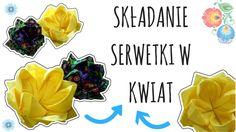 Dekoracja stołu: jak złożyć serwetkę w kwiat? ★TUTORIAL HOME DECOR DIY★