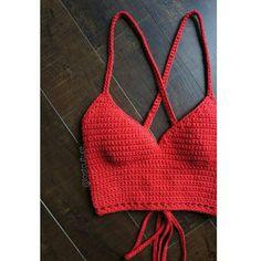 Vixen Crop Top Crochet Crop Top by LostCulture on Etsy