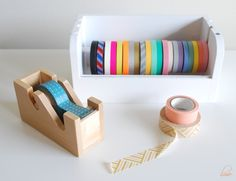 love the washi tape holder