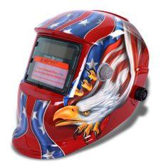 Sun YOBA Pro Pro Darking Welding Helmet Wwelder's MaskK with Griding Function Solar Powered Red Eagle Welding Helmet, Welding Tools, Soldering Tools, Soldering Iron, Equipment For Sale, Tools And Equipment, Power Hand Tools, Brazing, Metal Fabrication