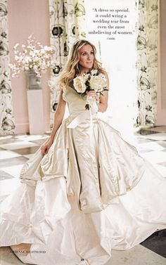 Carrie Bradshaw's (SJP) wedding gown by Vivienne Westwood - Sex & The City movie 1