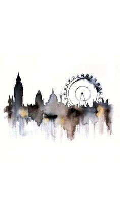 London watercolor