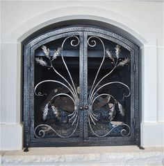 Hand Forged Fire Screen ~ Made by Italian Iron in Austin Texas