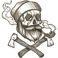 Lumberjack Skull is a Crewneck designed by Denilson to illustrate your life and is available at Design By Humans