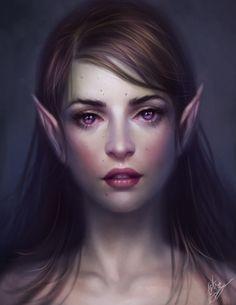 elven female portrait - Pesquisa Google